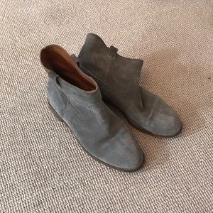 Madewell Grey Suede Ankle Boots